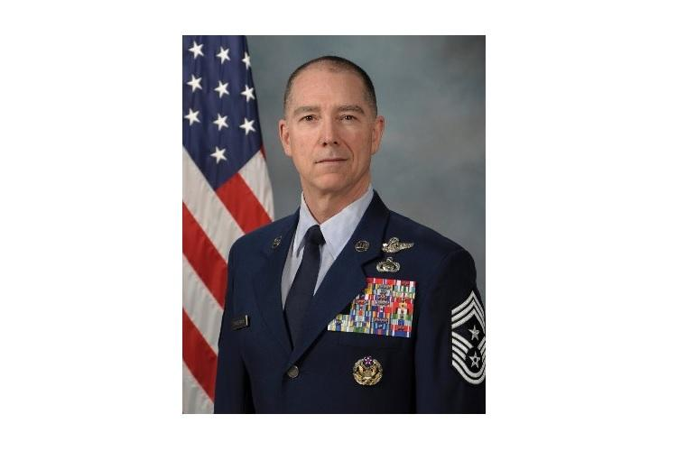 Chief Master Sgt. Roger Towberman was named as the first senior enlisted adviser of the Space Force, Feb. 13, 2020. (U.S. AIR FORCE)