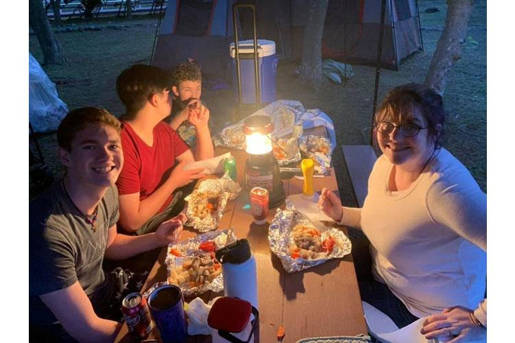 Amy Matelski, right, camps with her sons, from front to back, Timothy, Zachary and Joshua at Sagami General Depot, Japan, during Memorial Day weekend in May. Photo by Col. Thomas Matelski, U.S. Army Garrison Japan (Photo Credit: U.S. Army)