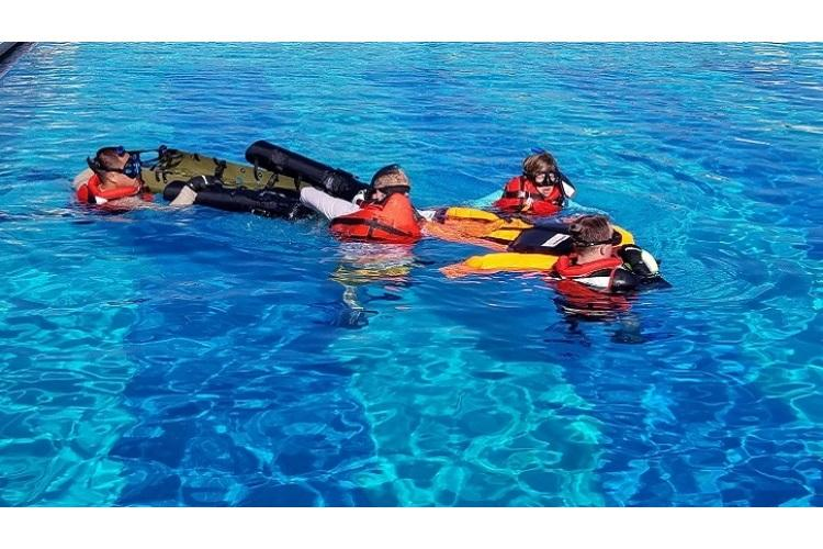The Dive Medicine and Rescue course is a two-week course, conducted at the Special Forces Underwater Operations School in Key West, Florida, that combines a mixture of nearly 90 hours of classroom, pool and open water training designed to provide the students with a full understanding of the medical issues and responses associated with military water operations. (DoD photo by Derik Crotts)