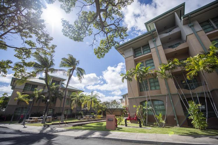PEARL HARBOR, Hawaii (March 8, 2019) Gabrunas Hall unaccompanied housing on Joint Base Pearl Harbor-Hickam. (U.S. Navy photo by Mass Communication Specialist 2nd Class Charles Oki/Released)