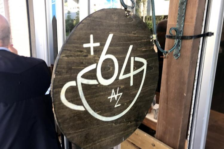 The +64 Cafe in western Tokyo is named after New Zealand's international dialing code. The cafe is owned by the captain of Japan's national rugby team, Michael Leitch. SETH ROBSON/STARS AND STRIPES