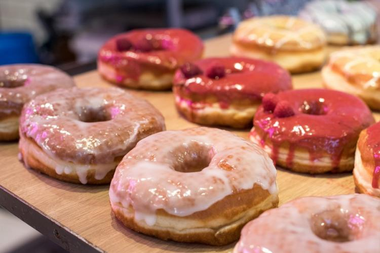 Dumbo Doughnuts and Coffee, which has shops in Tokyo and Yokohama, boasts a revolving roster of quirky flavors. AARON KIDD/STARS AND STRIPES