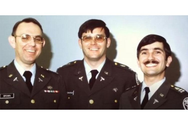 A young Capt. Glen Fitzpatrick (center) poses with colleagues early in his blood program career. (Courtesy Photo.)