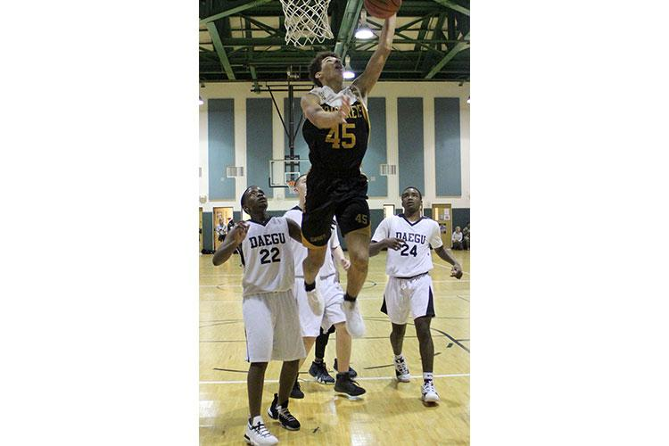 Collin Metcalf and Humphreys' boys team towered over the field in Korea for a third straight season, but had their struggles in last month's Kanto Classic. Might the Blackhawks be vulnerable at Far East? LILY AUSTINSON/SPECIAL TO STRIPES