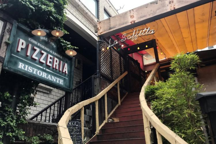 Pizzeria La Soffitta in Tokyo's Shibuya district touts authentic Italian pizza and imported pasta and wine. SETH ROBSON/STARS AND STRIPES