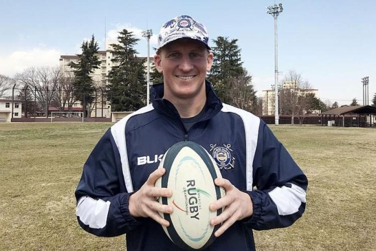 Coast Guard Lt. Cmdr. Keith Wilkins has played for some top U.S. rugby clubs before joining the Tokyo Crusaders last year after moving to Yokota Air Base, Japan. SETH ROBSON/STARS AND STRIPES