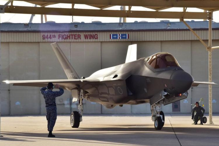 An F-35A of the Japan Air Self-Defense Force, like this one pictured Feb. 7, 2017, in Arizona, crashed into the Pacific Ocean on Tuesday, April 9, 2018. LOUIS VEGA JR./U.S. AIR FORCE