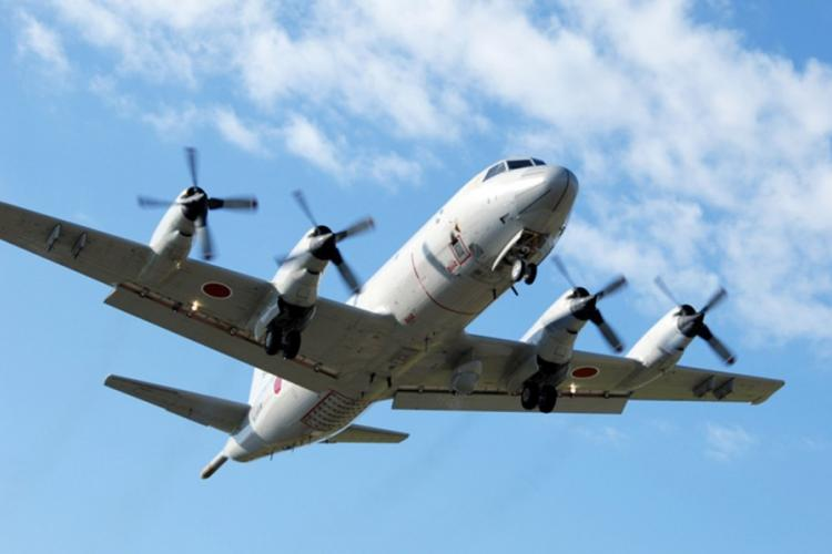 A P-3C Orion flies somewhere over Japan in this undated photo from the Japan Maritime Self-Defense Force. JMSDF