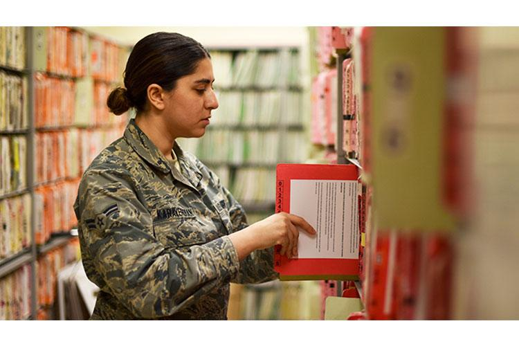 The sharing of Health Information Exchanges with the VA will further enhance the DOD's electronic health records and improve outcomes for all beneficiaries. (U.S. Air Force photo by Senior Airman Valentina Viglianco)