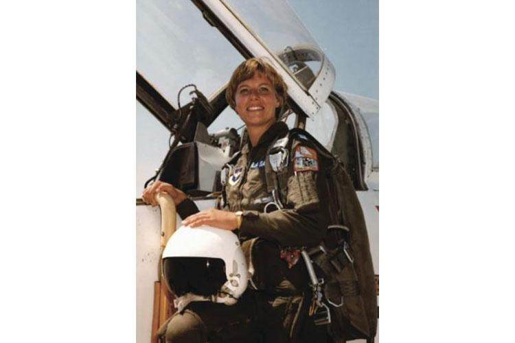 Capt. Kathy La Sauce is shown in her Undergraduate Pilot Training Class 77-08 graduation photo. In October 2020, the National Museum of the U.S. Air Force debuted an exhibit dedicated to the 10 women of UPT Class 77-08, the UPT class that included women. (Courtesy photo by Kathy La Sauce)