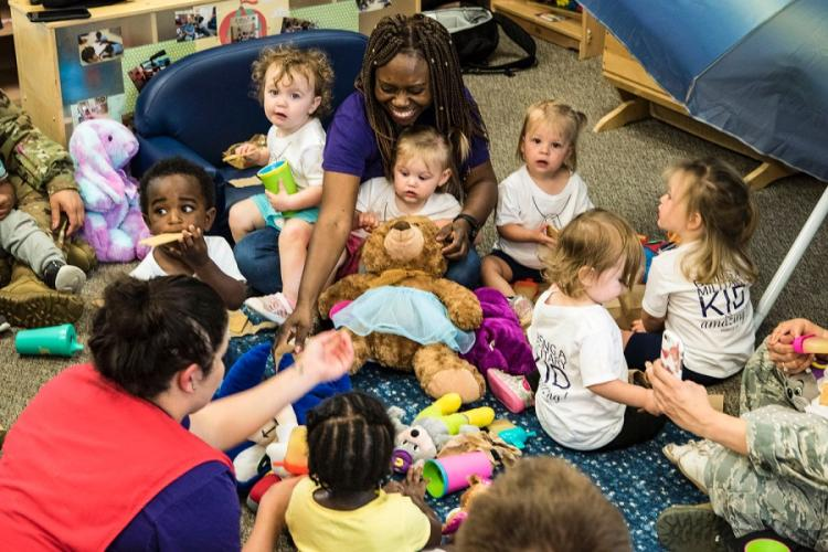 Children take part in the Teddy Bear Picnic at the Child Development Center Moody Air Force Base, Ga., in April, 2019. ERICK REQUADT/U.S.AIR FORCE