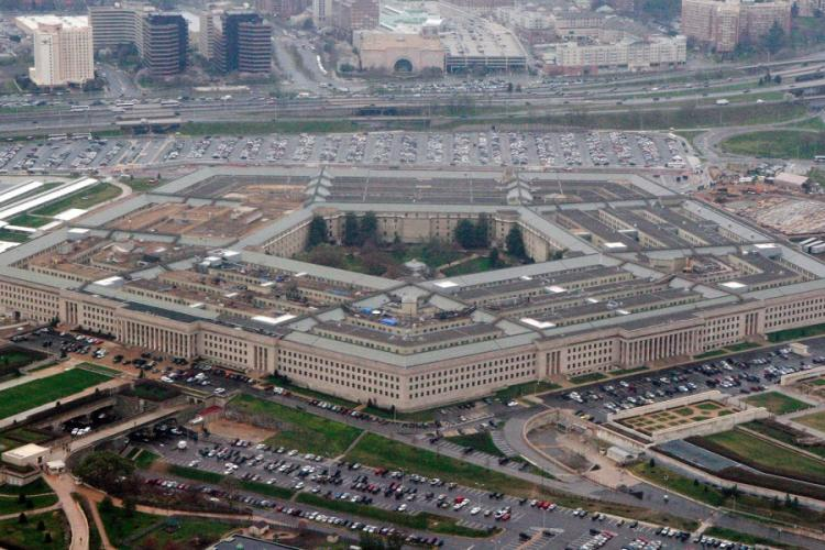 An aerial view of the Pentagon is seen in Washington on March 27, 2008. CHARLES DHARAPAK/AP