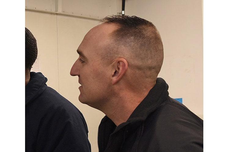 Lt. Cmdr. Ryan Platt is shown aboard the U.S. 7th Fleet flagship, USS Blue Ridge. Platt died while on liberty during a port visit. SARAH EATON/U.S. NAVY
