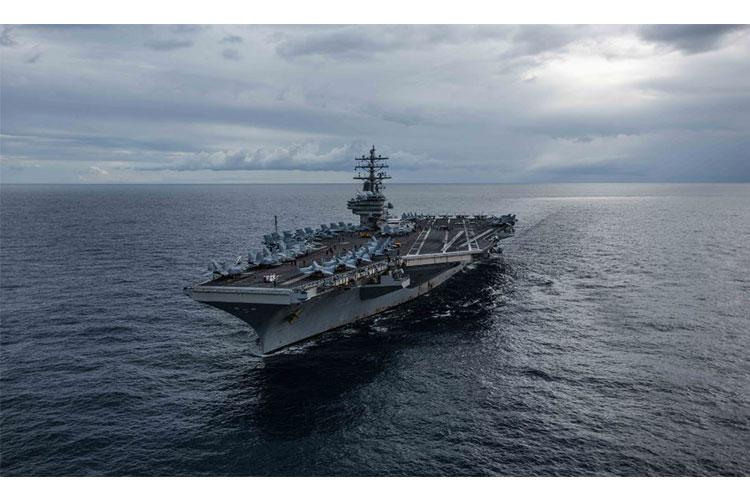 CORAL SEA (July 22, 2019) The U.S. Navy's forward-deployed aircraft carrier USS Ronald Reagan (CVN 76) cruises during Talisman Sabre 2019. Talisman Sabre 2019 illustrates the closeness of the Australian and U.S. alliance and the strength of the military-to-military relationship. This is the eighth iteration of this exercise. (U.S. Navy photo by Mass Communication Specialist 2nd Class Kaila V. Peters/Released)