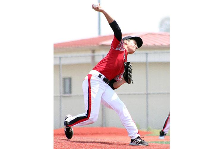 E.J. King baseball, with its junior right-hander Leo Schinker, is one of the teams directly affected by DODEA-Japan's decision to cancel air and rail travel for weekend competitions in March. KATHLEEN PACLIPAN/SPECIAL TO STARS AND STRIPES