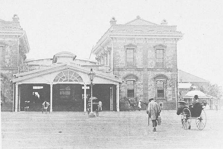 Shimbashi Station 1900, Old Shimbashi Station imagery from the National Diet Library
