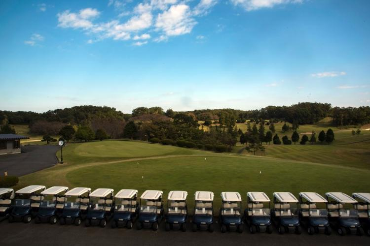 At 6,600 yards with two sets of greens for every hole, Tama Hills Golf Course in Tokyo is on par with some of the better country clubs in the United States. THERON GODBOLD/STARS AND STRIPES