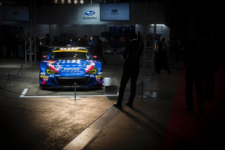 Subaru shows off its BRZ GT300 race car during Tokyo Auto Salon 2020 in Chiba, Japan, Friday, Jan. 10, 2020. THERON GODBOLD/STARS AND STRIPES