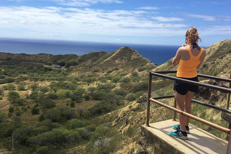 For a view beyond Waikiki Beach and the surrounding tropics of the island, a visit to Diamond Head 760 feet above is a must. This tuff crater is an iconic landmark of the islands and is a favorite for hikers thanks to the breathtaking vistas it offers. (Photos by Miyuki Takiguchi and Denisse Rauda)