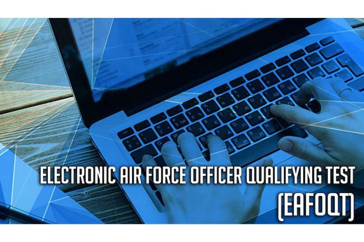 Due to the COVID-19 pandemic limiting opportunities to take the traditional Air Force Officer Qualifying Test, Air Force Recruiting Service and the Air Force's Personnel Center collaborated to create the first electronic version of the traditional AFOQT. The eAFOQT is not replacing current testing but is another tool for the recruiters to use when processing officer applicants. The eAFOQT is a beta test at this time specific for the regular Air Force that became available Sept. 14, 2020. (Courtesy graphic)