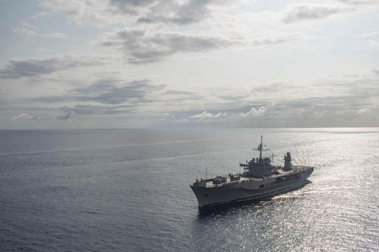 Official U.S. Navy file photo of U.S. 7th Fleet flagship USS Blue Ridge (LCC 19). (Photo by Mass Communication Specialist 3rd Class Aron Montano)