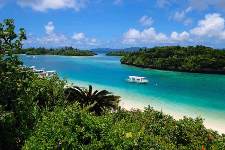 Kabira Bay on Ishigaki Island, Japan, is famous for its beautiful white sand beaches and turquoise waters. Visitors can go there on a glass-bottom boat. AYA ICHIHASHI/STARS AND STRIPES