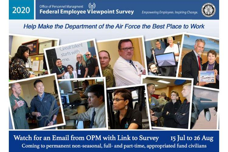 The Federal Employee Viewpoint Survey will be available for Air Force civilian employees starting July 15. (Courtesy graphic)