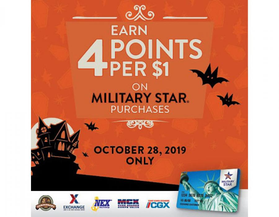 Camp Zama Exchange shoppers can double up on MILITARY STAR rewards points Oct. 28