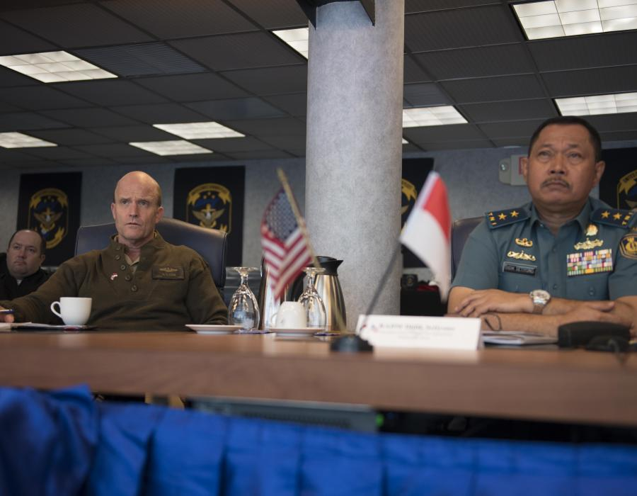 U.S. 7th Fleet holds staff talks and reinforces partnership with Indonesian Navy