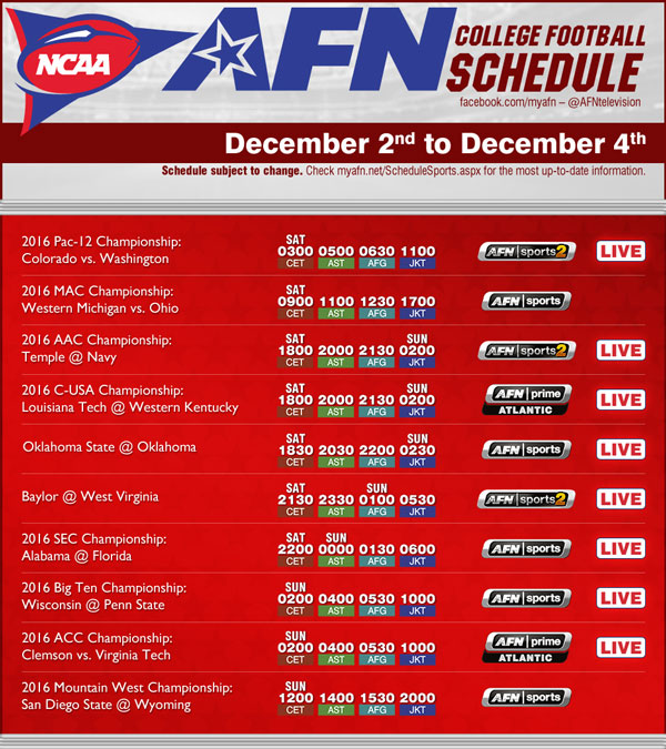 ncaa football 2015 schedule 1 a week