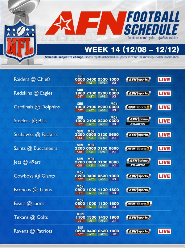 nfl schedule week 14 walter picks nfl