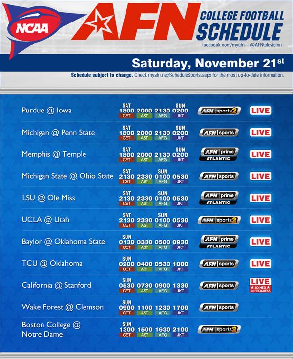 college football week 11 schedule ncaa college football scoreboard